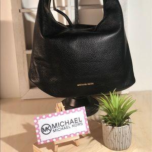 Michael Kors Black Pebble Leather Handbag